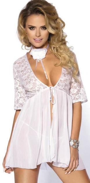Biele čipkované šaty princeznovského strihu
