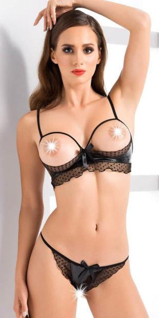 Erotický set s otvorenou podprsenkou a nohavičkami